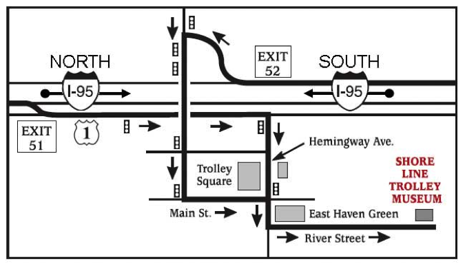 The Shore Line Trolley Museum map