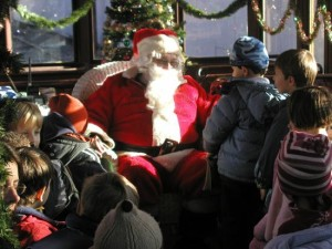 Santa on the Trolley 1