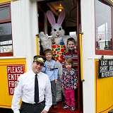 Bunny on the Trolley!