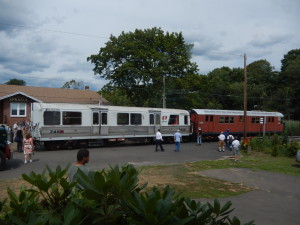 Car 745 with 6688 at Sprague Station before moving into position for exhibit in the yard.